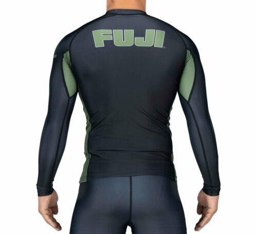 Green Fuji Sports Submit Everyone MMA BJJ Jiu Jitsu LongSleeve LS Rashguard