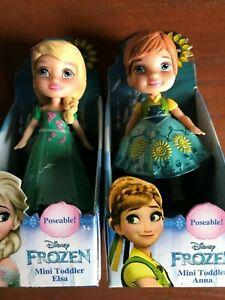 """Disney Frozen Fever Mini Toddler ANNA 3/"""" poseable figure NEW"""