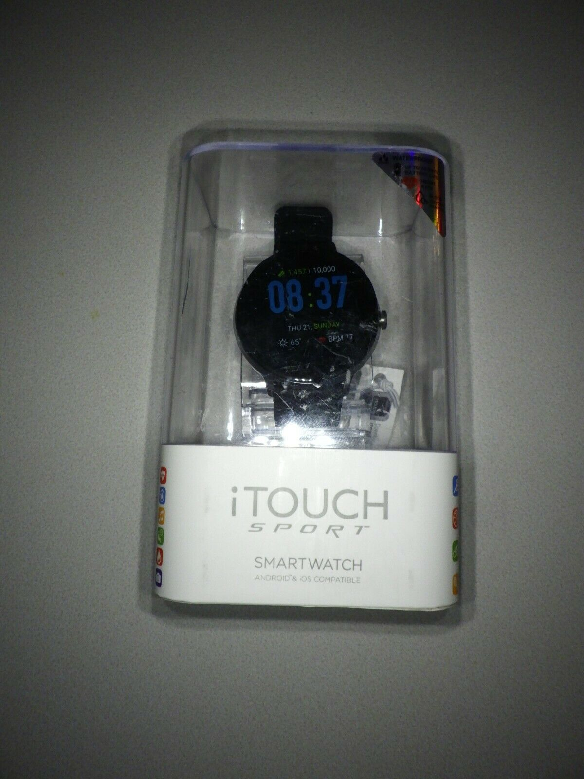 iTouch Sport Smartwatch Fitness Tracker Heart Rate Step Counter Sleep Monitor