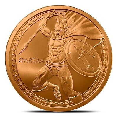 1 Oz Copper Round Spartan! Fashionable And Attractive Packages