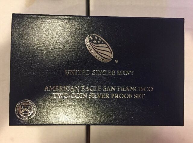 United States Mint American Eagle San Francisco Two Coin Silver Proof Set