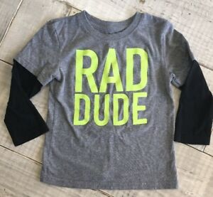 b6c824dfb9565 RAD DUDE Circo Toddler Long Sleeve Tee T-shirt Size 4T Gray with ...