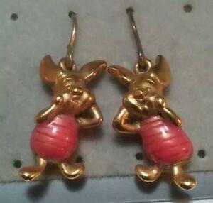 Image Is Loading Cute Vintage Disney Piglet Earrings For Pierced