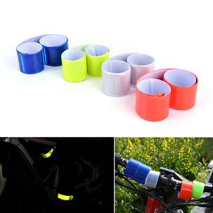 2-x-Reflective-Bands-Leg-Arm-Strap-Bike-Bicycle-Safety-Pant-Belt-Glow-New-CP