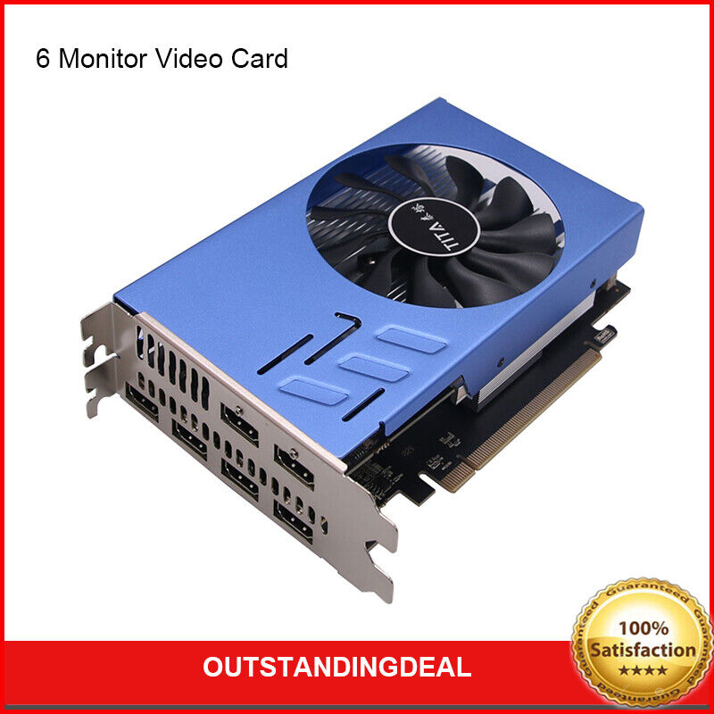 6 Monitor Video Card HDMI Video Graphics Card 2GB DDR5 up to 6 Monitors AMD