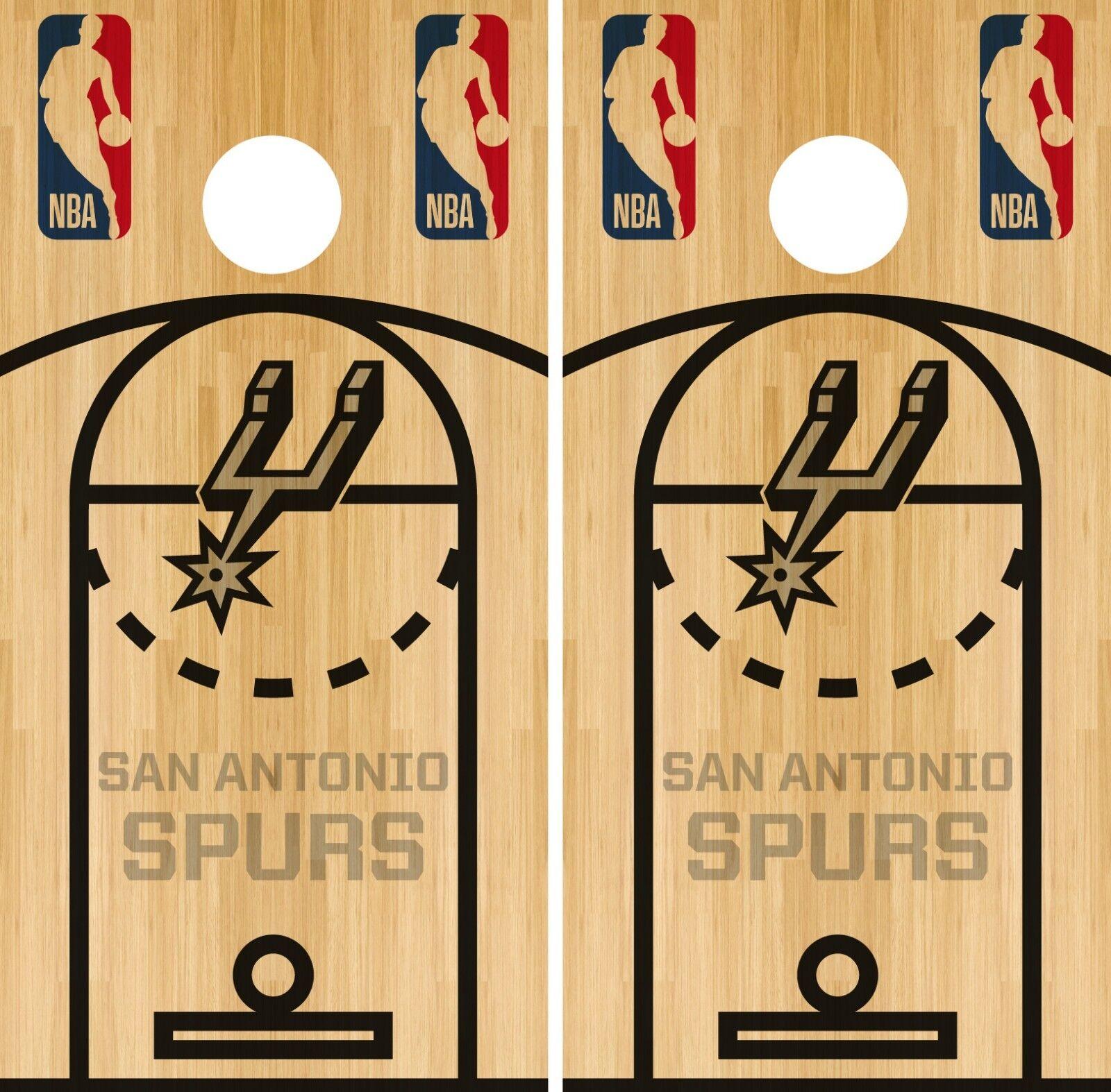San Antonio Spurs Cornhole Wrap NBA Game  Skin Board Vinyl Decal Court Set CO710  convenient