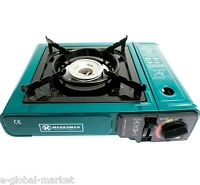 Gas Hob Single Burner Cooker Stove Camping Picnic Portable Carry Case Flame