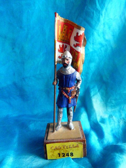 Tr è selten porte drapeau espagnol castilla 1248 du moyen - â ge