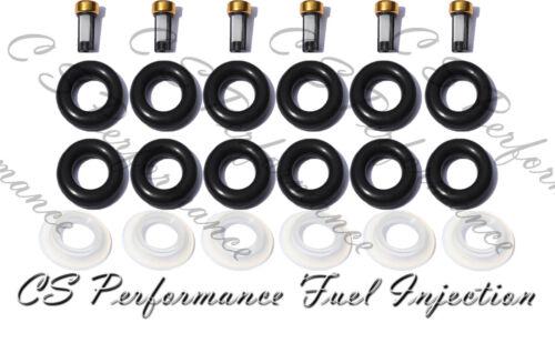 Fuel Injector Repair Rebuild Service Kit ORings Filters Caps CSKBO36