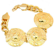 "Medusa Bracelet Heads Gold Statement 8"" Chain Link Celebrity Fashion UK"