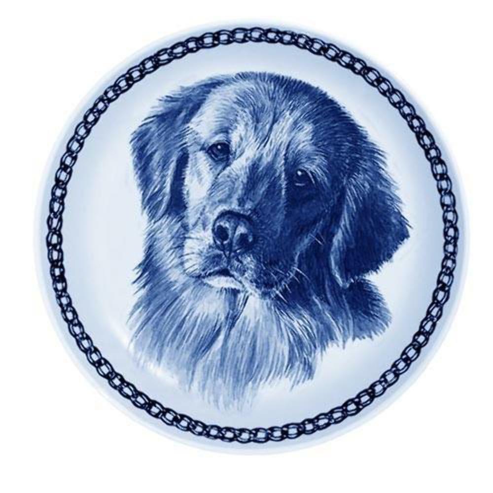 golden Retriever - Dog Plate made in Denmark from the finest European Porcelain