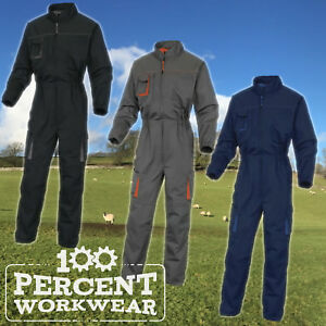 Delta-Plus-Mens-Overalls-Boiler-Suit-Coveralls-Industrial-Mechanics-M2COM-M2CO2