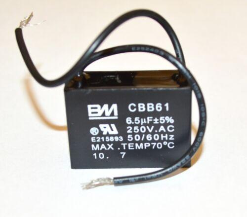 FAN CAPACITOR CBB61 6.5uf 250VAC