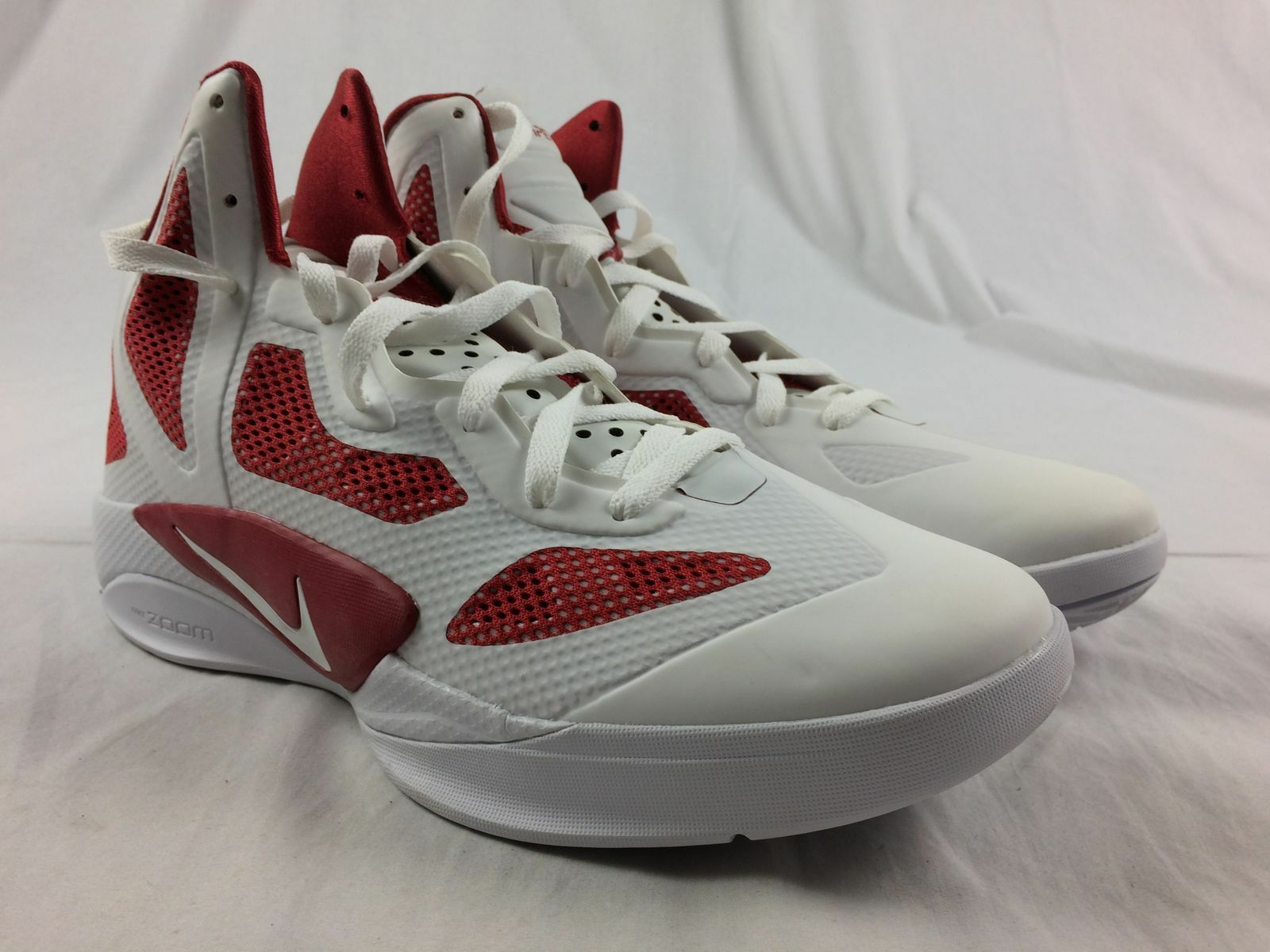 NEW Nike Hyperfuse - White/Red Basketball Shoes (Men's 12.5)