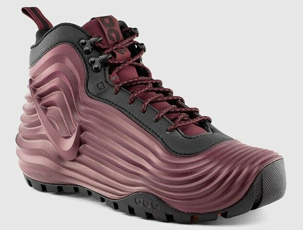 New Nike Men's ACG Lunardome 1 Sneakerboot  (654867-669)  Deep Burgundy Black