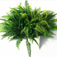 Green Artificial Fern Bouquet Silk Fake Persian Leaves Decors O9G6