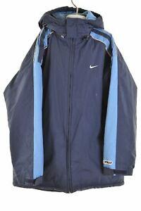 NIKE-Boys-Padded-Jacket-15-16-Years-Large-Navy-Blue-Polyester-Vintage-KP77