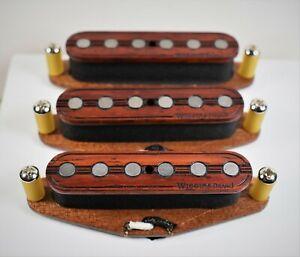 Wiggins-Brand-hand-wound-Strat-pickup-set-Padauk-Texas-wound-alnico-wood