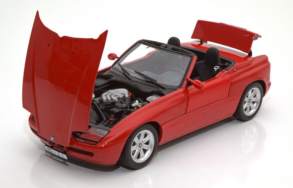 Minichamps 1988 BMW Z1 Red 1 18 Scale REAL DIECAST BMW W OPENINGS New Item