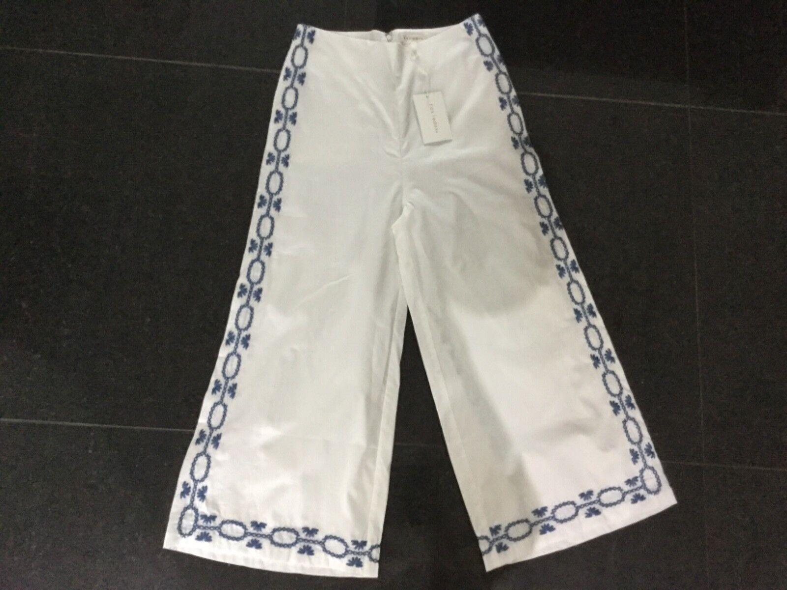 NWT Foxiedox New & Gen. Ladies White Cotton Crop Trousers Size Medium