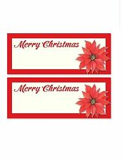 24 poinsettia xmas party table name number place card decoration dinner settings