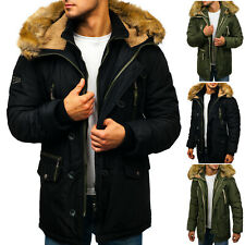 Parka Winterjacke Jacke Wärmejacke Zip Sweatjacke Herren BOLF 4D4 Unifarben WOW