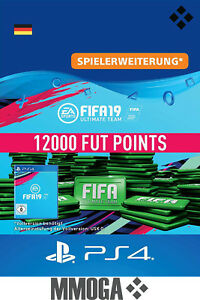 PS4 - FIFA 19 Ultimate Team - 12000 FUT Points Key Playstation 4 Code Nur für DE