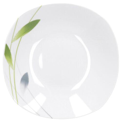 Essteller tief Serenade 21,5cm weiß Dekor Porzellan Geschirr Suppenteller Teller