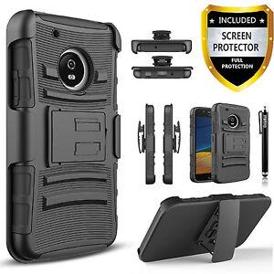 motorola e4 phone case. image is loading motorola-moto-e4-case-dual-layers-belt-clip- motorola e4 phone case