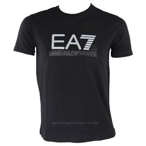 Emporio-Armani-EA7-T-shirt-uomo-manica-corta-mod-6gpt81-colore-nero