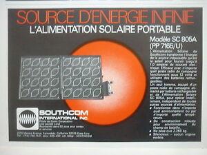 1/1979 Pub Southcom Loral Escondido Alimentation Solaire Sc 805a Solar French Ad Nqpicrig-07225227-854071560