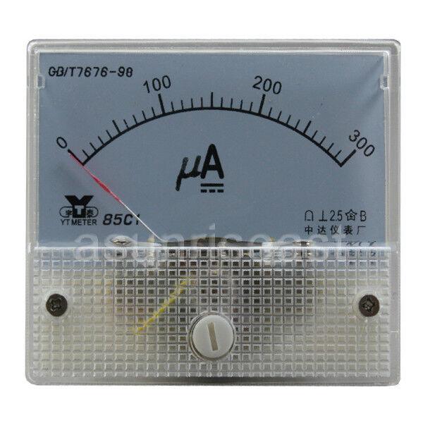 1 x DC300uA Analog Panel APM Microampere Current Meter Gauge 85C1 DC0-300uA