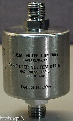 TEM-811-6 T.E.M New in box Filter Company Gas Filter No