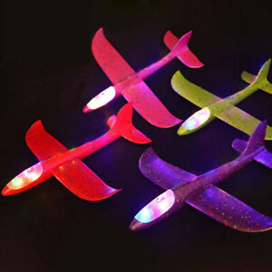Juguetes-de-luz-Aviones-Ninos-Bricolaje-Tiro-Volador-Planeador-de-espuma-Avion