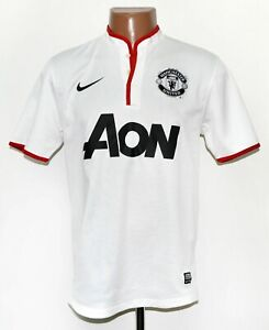Manchester United 2012/2013/2014 AWAY FOOTBALL SHIRT JERSEY NIKE Taglia S adulto