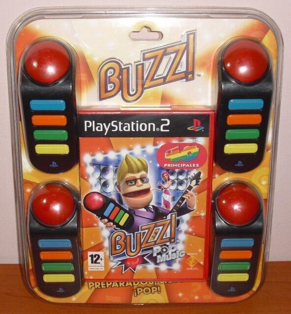 Buzz! Pop Music 40 Principales + pulsadores Buzzers, PS2, Pal-España ¡¡NUEVO!!