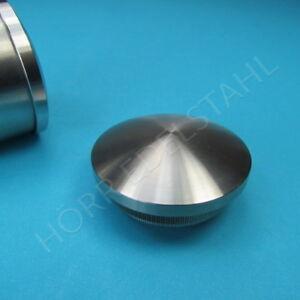 Stopfen Deckel Kappe Edelstahl für Rohr Ø 33,7 mm für 2,0  //2,6 3mm Wandstärke