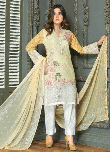 LADIES DESIGNER MUNIRA WOMENS READY MADE EMBROIDERED LAWN SUMMER SALWAR KAMEEZ