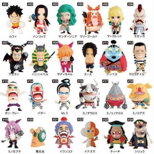 Plex Popy Anichara Heroes One Piece Mini Big Head Figure Impel Down Vol. 8