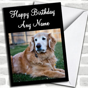 Image Is Loading Golden Retriever Dog Personalized Birthday Card