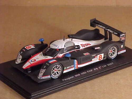 Spark #S1273 1/43 Résine Peugeot 908 HDI FAP, 2nd Lieu 2007 Mans, Total #8