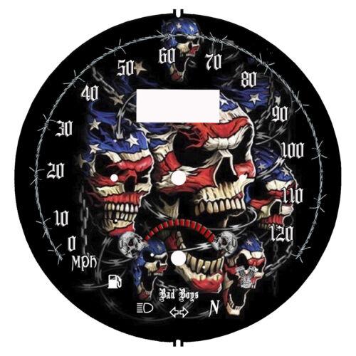 fits:1999-2007 Yamaha Road Star 1700 /& 1600 American Flag mph /& kmh
