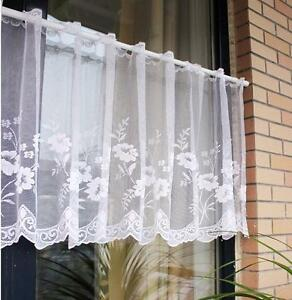 White-flower-Home-decorate-Kitchen-Lace-Sheer-Curtain-Cafe-Curtain-160219013