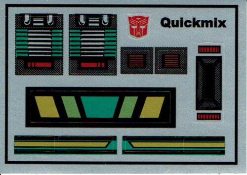 G1 Autobot QUICKMIX REPRO etichette Transformers GENERATION 1