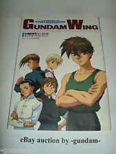 Shinkidousenki Gundam Wing Characters' Collection art book by Keibunsha 1995
