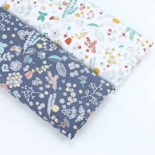 50cm*160CM Fasion Flower 100/%cotton fabric Quilting  Clothes Bedding Sewing 97