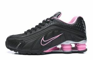 Details about Women's Nike Shox R4 Athletic Shoes Black Pink Sizes 5.5-8.5