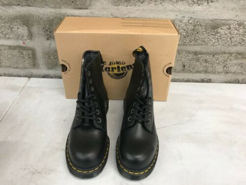 Dr Martens 6601 Icon Black Leather Ankle Safety Boot Airwair Steel Toe Cap
