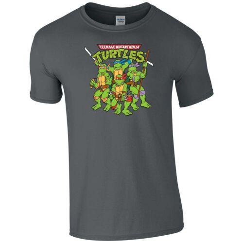 Ninja Turtles T Shirt Teenage TMNT Mutant 90s Cartoon Birthday Gift Men Tee Top