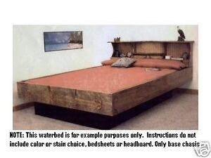 waterbed water bed frame plans to build your own king queen full or twin ebay. Black Bedroom Furniture Sets. Home Design Ideas